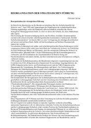 reorganisation der strategischen führung - bundesheer.at - Login