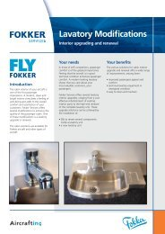 Lavatory Modifications - Interior upgrading and ... - Fokker Services