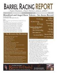 report arrel acing - Barrel Racing Report
