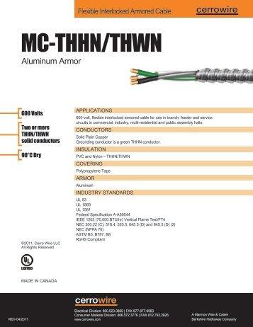AC-THHN/THWN - Cerro Wire and Cable Company