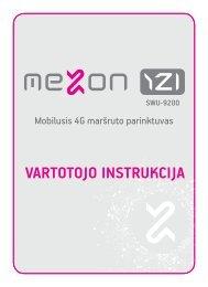 VARTOTOJO INSTRUKCIJA - MEZON