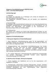 Allgemeine Geschäftsbedingungen OPERTIS GmbH: Liefer- und ...