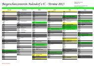 Kalender 2013 - Bürgerschützenverein Aulendorf eV