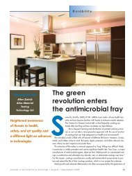 SThe green revolution enters the antimicrobial fray - PaintSquare