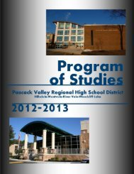 PASCACK VALLEY REGIONAL HIGH SCHOOL DISTRICT