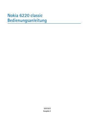 Nokia-6220-cl-Bedienungsanleitung.pdf herunterladen - Fonmarkt.de