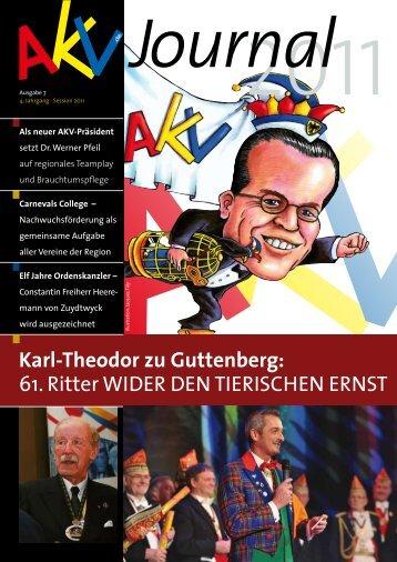 Karl-Theodor zu Guttenberg: 61. Ritter WiDeR DeN tieRiSCHeN - AKV