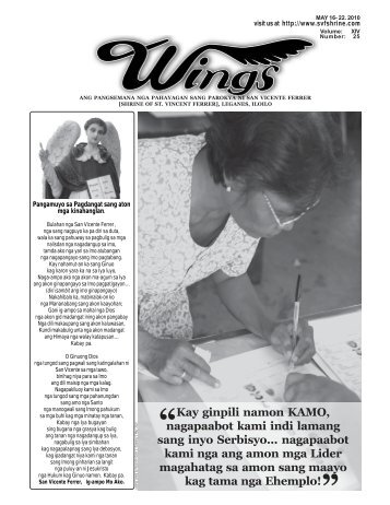 May 16- 22, 2010.pmd - Parokya ni San Vicente Ferrer [Archdiocese ...