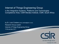Internet of Things: A South African View - EuroAfrica-ICT