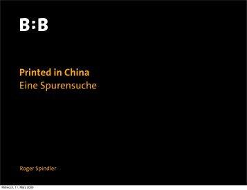 Printed in China Eine Spurensuche - Viscom