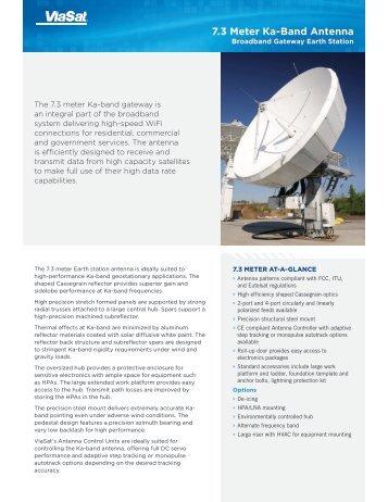 7.3 Meter Ka-Band Antenna - ViaSat
