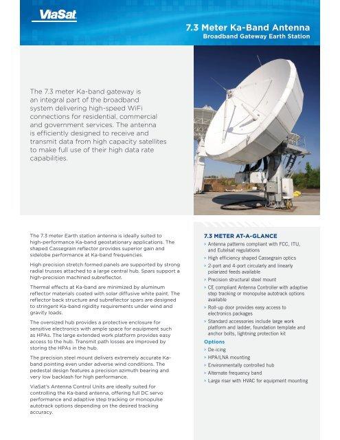 7 3 Meter Ka-Band Antenna - ViaSat