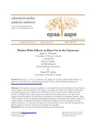 District-wide effects on data use in the classroom - Department of ...