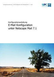 E-Mail Konfiguration unter Netscape Mail 7.1 - inode.at