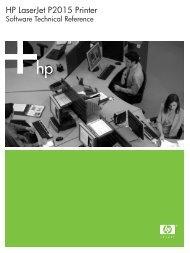 HP LaserJet P2015 Printer Software Technical Reference - ENWW