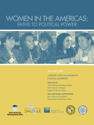 Women in the ameriCas: - Inter-American Dialogue