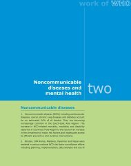 Noncommunicable diseases - WHO SEAR Digital Repository