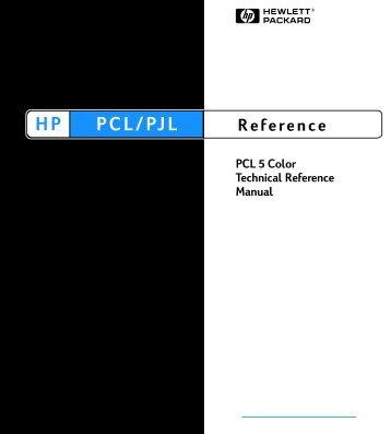 PCL 5 Color Technical Reference Manual - Business Support ...