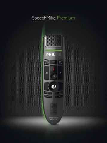Detailed Brochure for all SpeechMike Premium USB Products