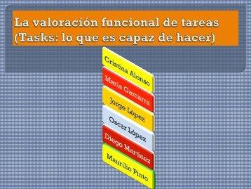 La valoración funcional de tareas