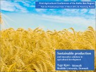 First Agricultural Conference of the Baltic Sea Region