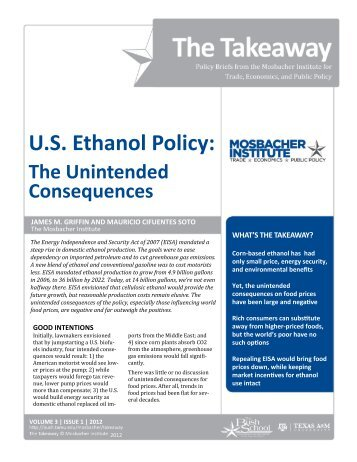 US Ethanol Policy - Bush School of Government and Public Service ...