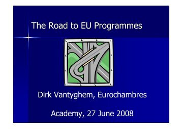 O.8 European Commission Funded Projects - Eurochambres Academy