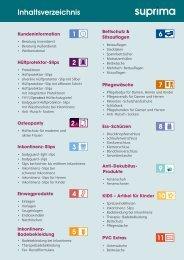 Inhaltsverzeichnis - Suprima GmbH