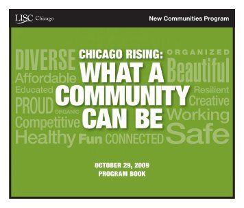 OCTOBER 29, 2009 PROGRAM BOOk - New Communities Program