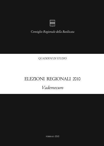 Vademecum - Precedente versione del sito - Consiglio Regionale ...