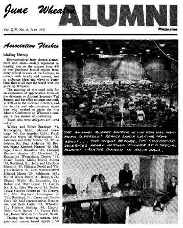 Making history - eSpace - Wheaton College