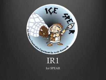 Ice SPEAR - Aerospace Engineering Sciences Senior Design Projects