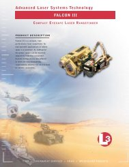 Advanced Laser Systems Technology FALCON III - L-3 ...