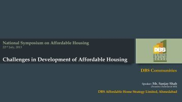 Challenges in Development of Affordable Housing