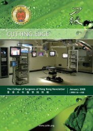 CUTTING EDGE January 2008 - The College of Surgeons of Hong ...