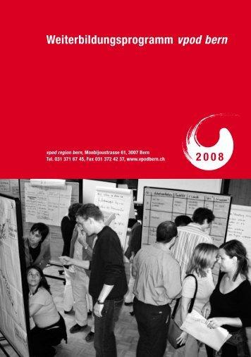 Weiterbildungsprogramm vpod bern 2008