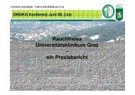 Rauchfreies Universitätsklinikum Graz – ein Praxisbericht - ONGKG