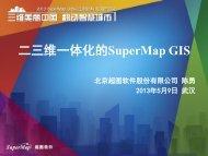 二三维一体化的SuperMap GIS - 北京超图软件股份有限公司