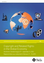 Copyright and Related Rights in the Global Economy - Sida
