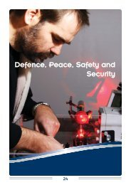 Defence, Peace, Safety and Security - CSIR