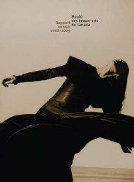 Rapport annuel 2008-2009 Musée des beaux-arts du Canada