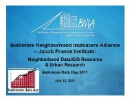 BNIA JFI - the Baltimore Neighborhood Indicators Alliance