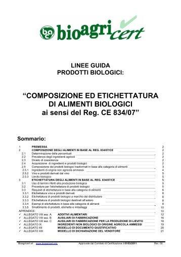 """""""COMPOSIZIONE ED ETICHETTATURA DI ALIMENTI ... - Bioagricert"""