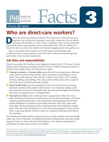 Who are direct-care workers? - PHI
