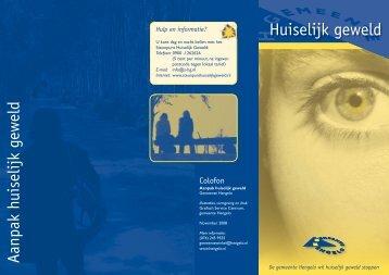 Folder huiselijk geweld - Gemeente Hengelo