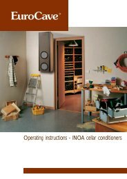 Operating instructions - INOA cellar conditioners