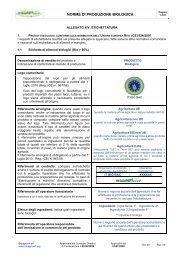 NORME DI PRODUZIONE BIOLOGICA - Bioagricert