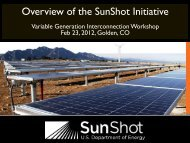 U.S. Department of Energy SunShot Initiative - Utility Variable ...