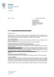 lettera di convenzione (file .pdf) - CONI Emilia Romagna