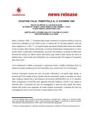 news release - Vodafone